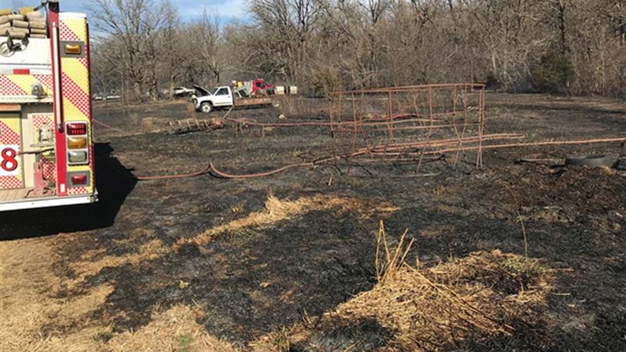 Fire Crews Respond To Grass Fires In South Osage County