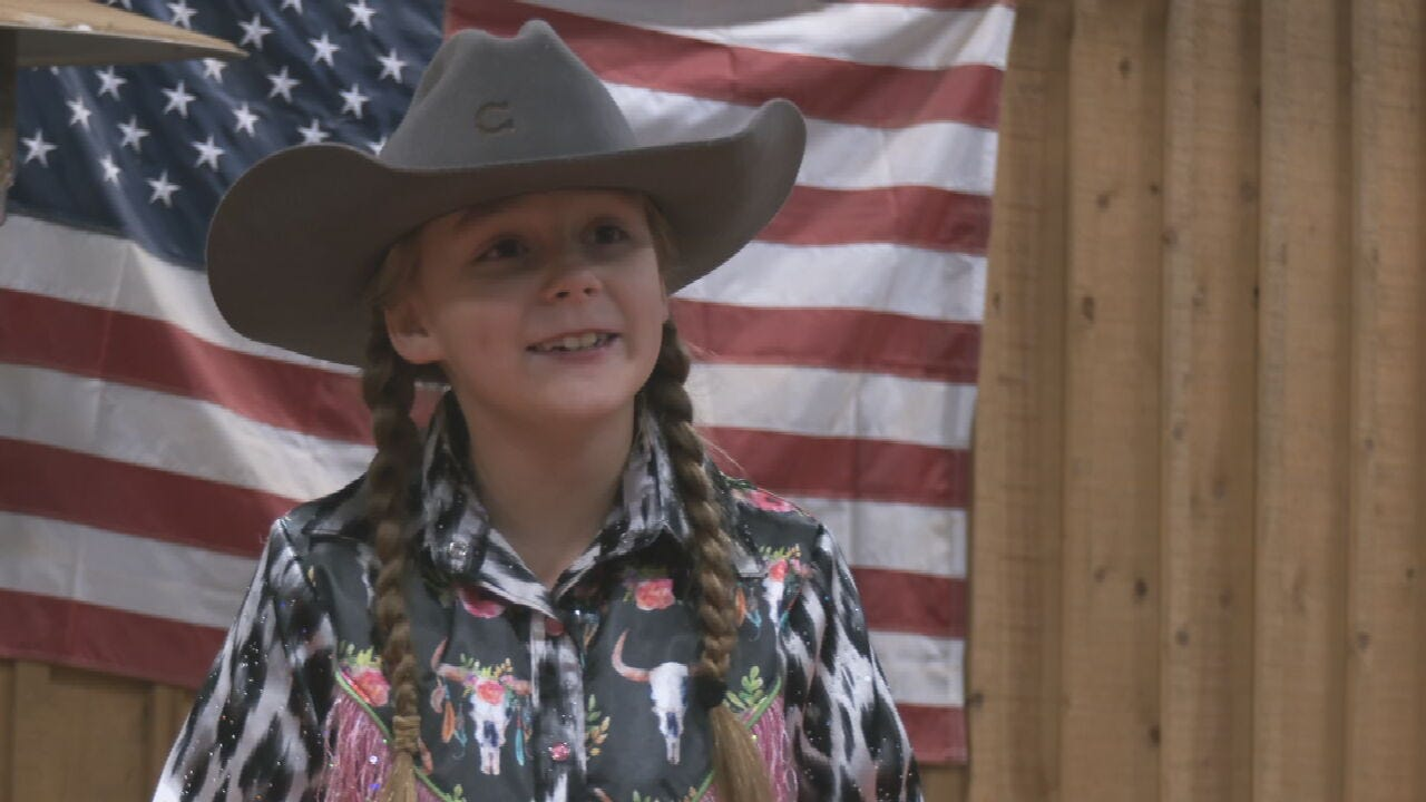 Creek County 9-Year-Old Returns From Barrel Racing Competition in Vegas
