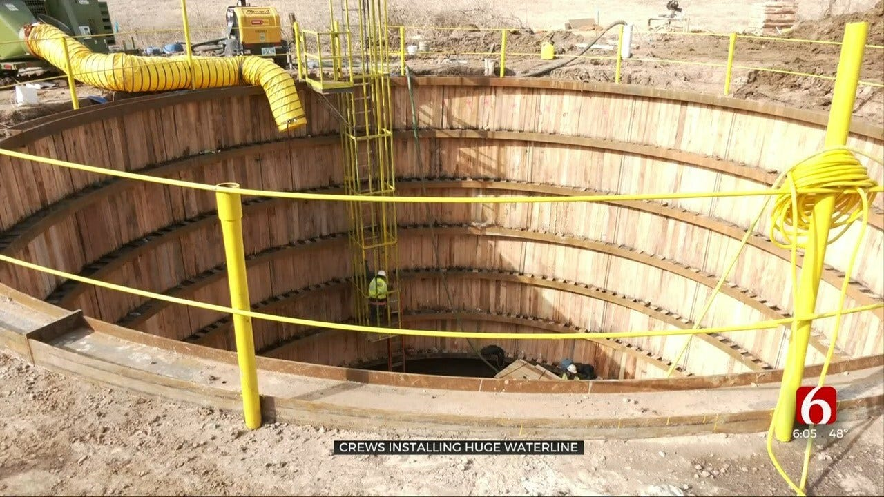 Highway 75 In Tulsa Sees Major Construction For Water Line