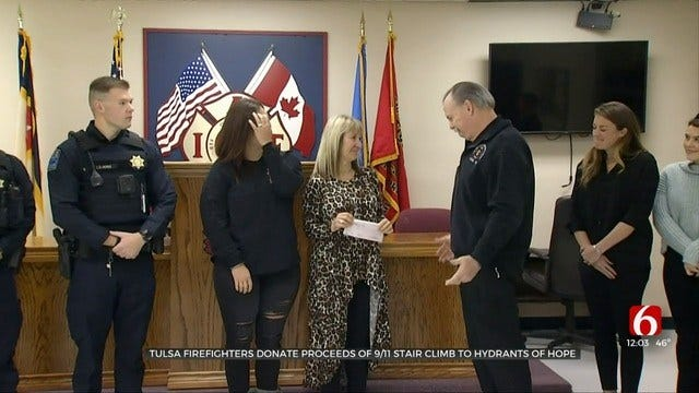 Tulsa First Responders Raise $12K For Hydrants Of Hope Charity
