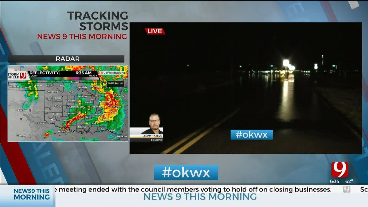 WATCH: Edmond Roads Closed Due To High Water