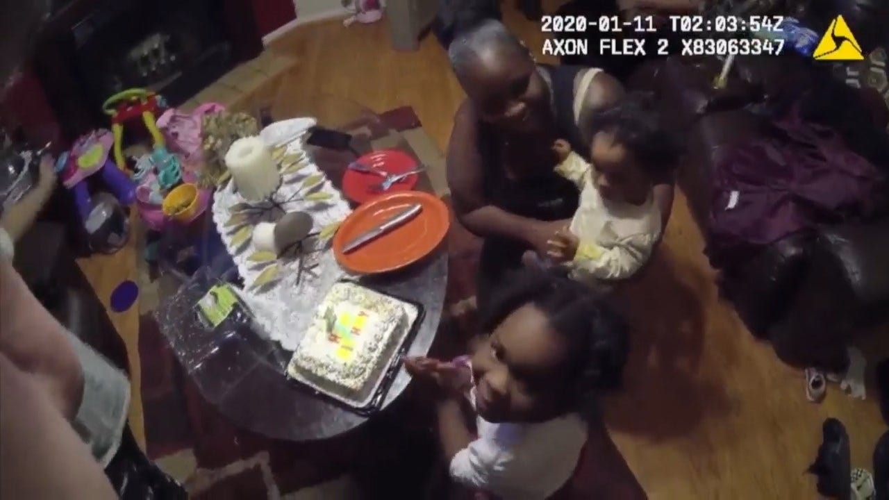 Bodycam Footage Shows Officers Helping Mom Celebrate Daughter's 1st Birthday