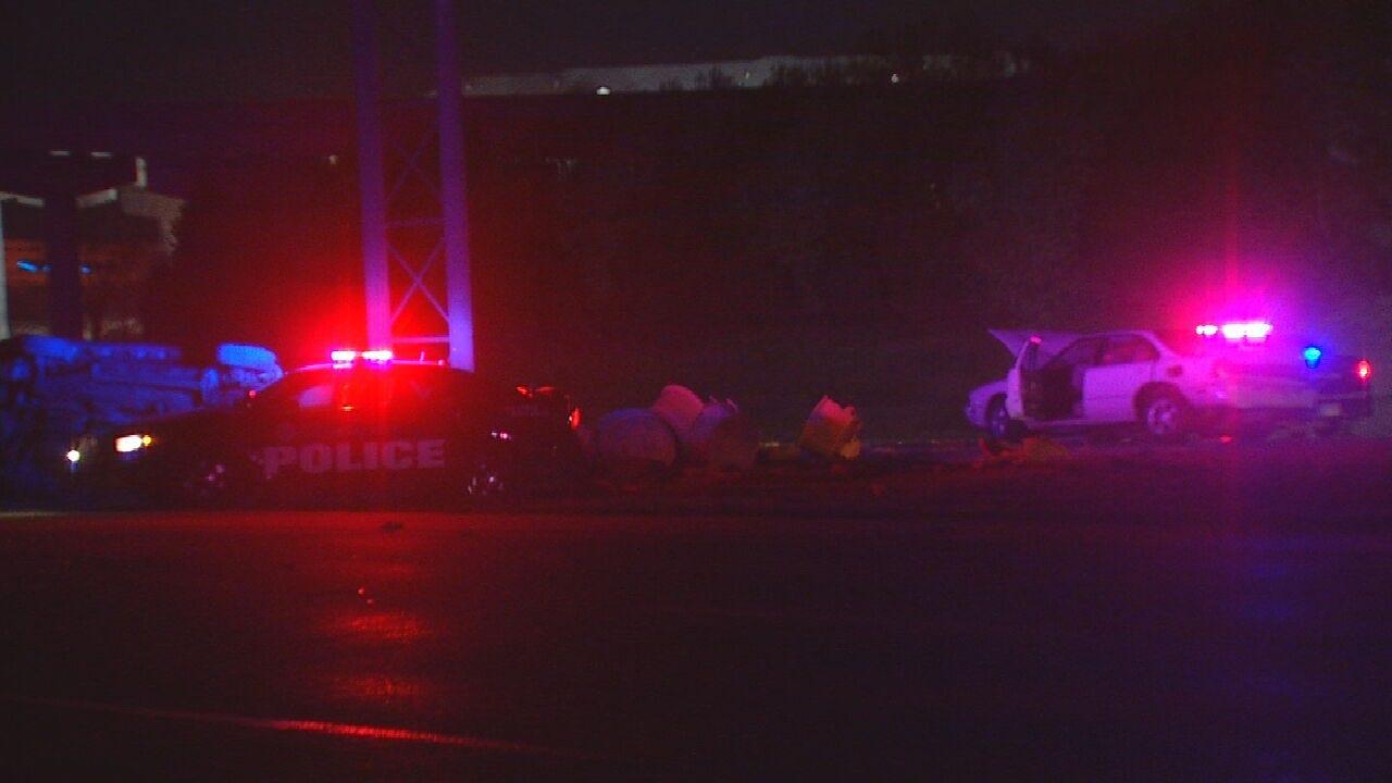 Driver Crashes Into 2 Oklahoma City Police Cars