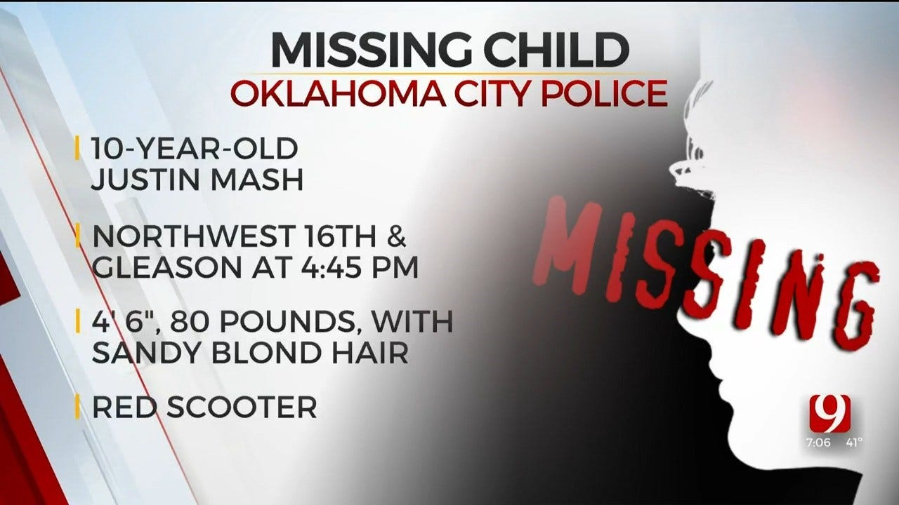 Oklahoma City Police Searching For Missing Child