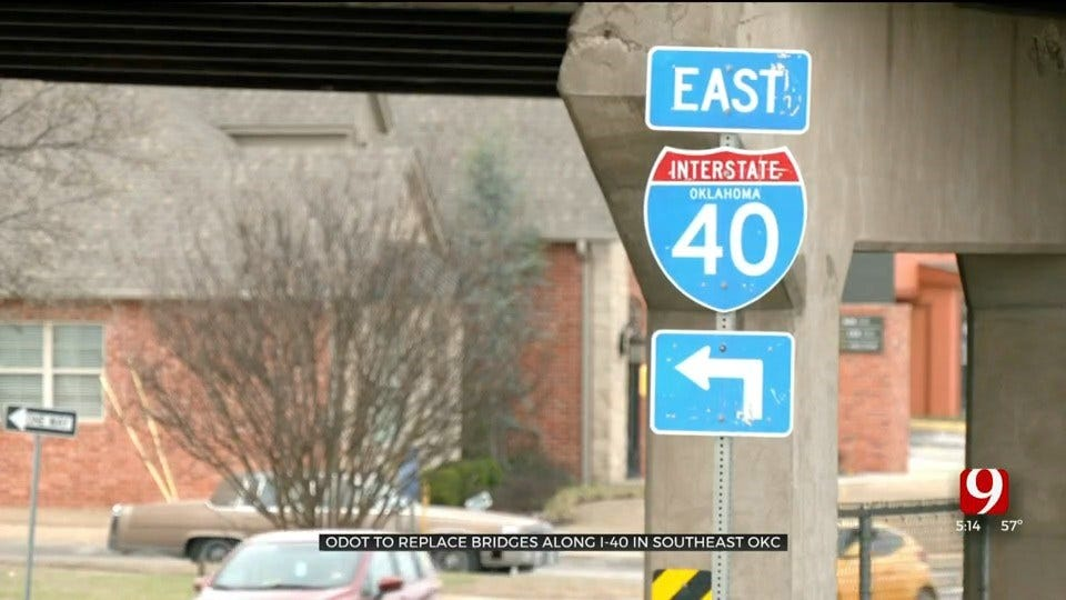 ODOT To Replace Bridges Along I-40 In SE Oklahoma City