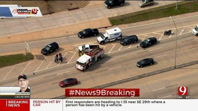 1 Injured In Auto-Pedestrian Crash On SB I-35