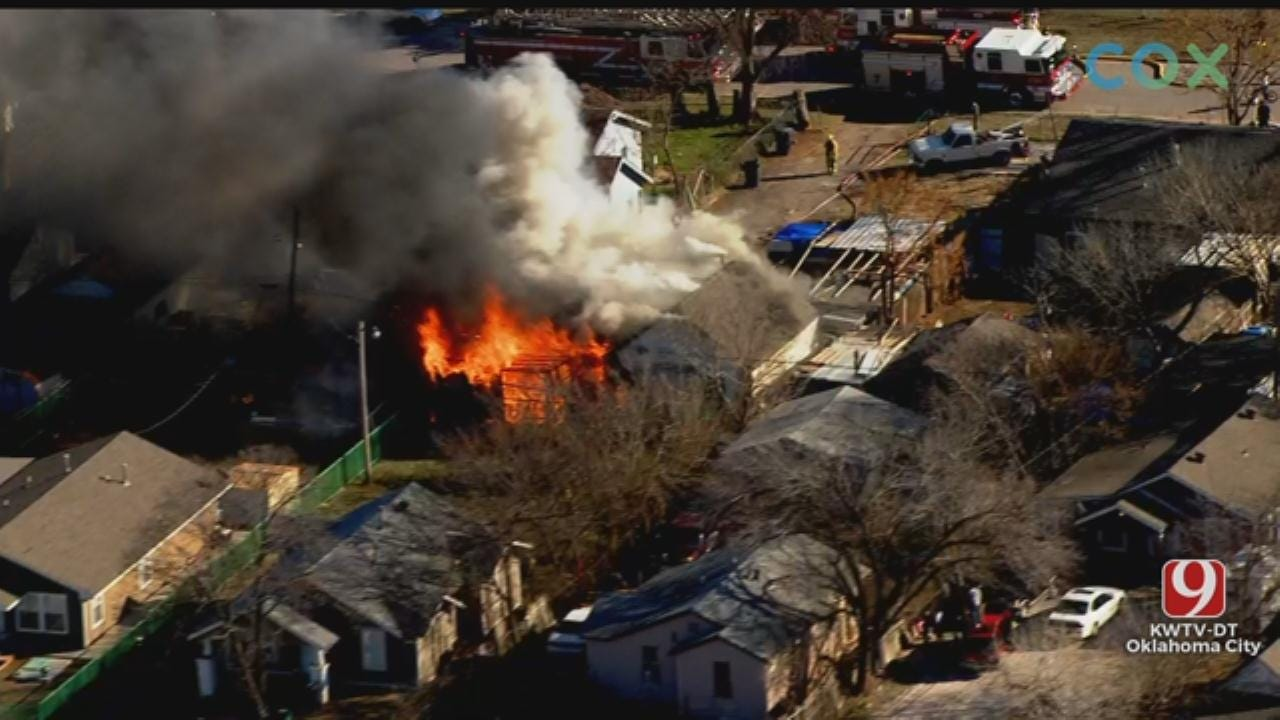 Firefighters Battle House Fire In SW OKC