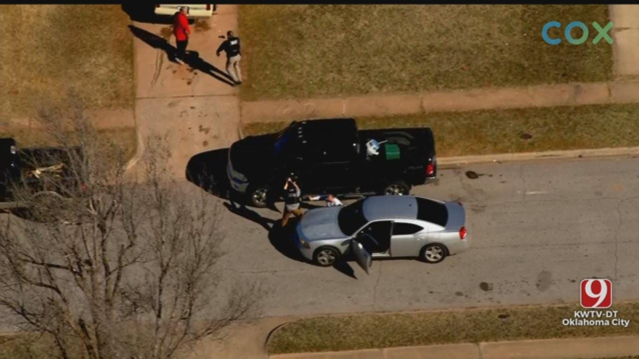 WATCH: 3 Suspects In Custody After High-Speed Chase In OKC