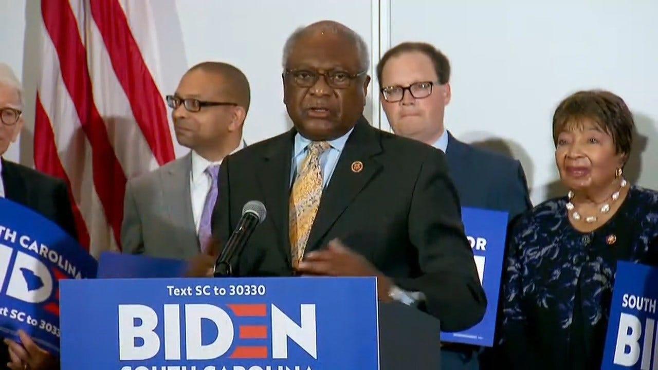 Biden Nabs Clyburn Endorsement Before South Carolina Primary