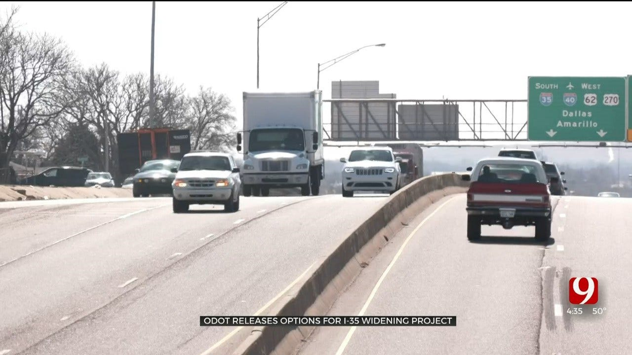 ODOT Releases Options For I-35 Widening Project