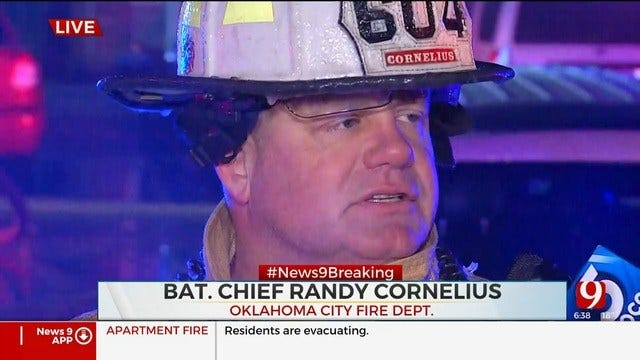 WATCH: Firefighters Give Debrief On Large NW OKC Apt. Fire
