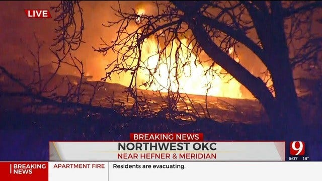 Firefighters Battle Large Fire At NW OKC Apartment Complex