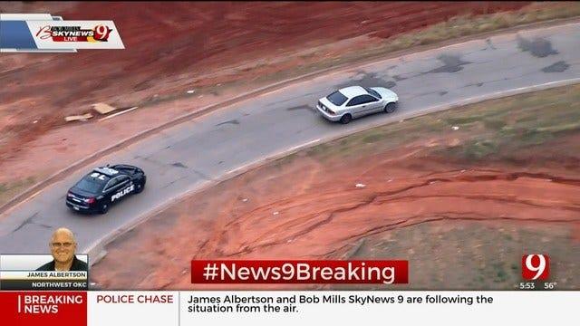 WATCH: Bob Mills SkyNews 9 Flies Over Police Pursuit In North OKC
