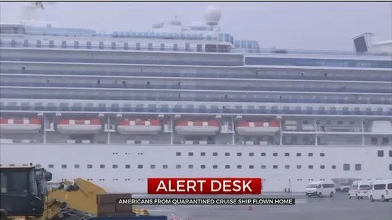 Americans From Virus-Infected Quarantined Cruise Ship Flown Home