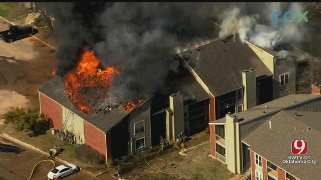 WATCH: Firefighters Battle Apartment Fire In NW OKC