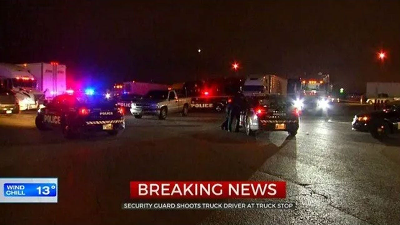 Argument Between Truck Driver, Security Guard At SW OKC Truck Stop Leads To Shooting