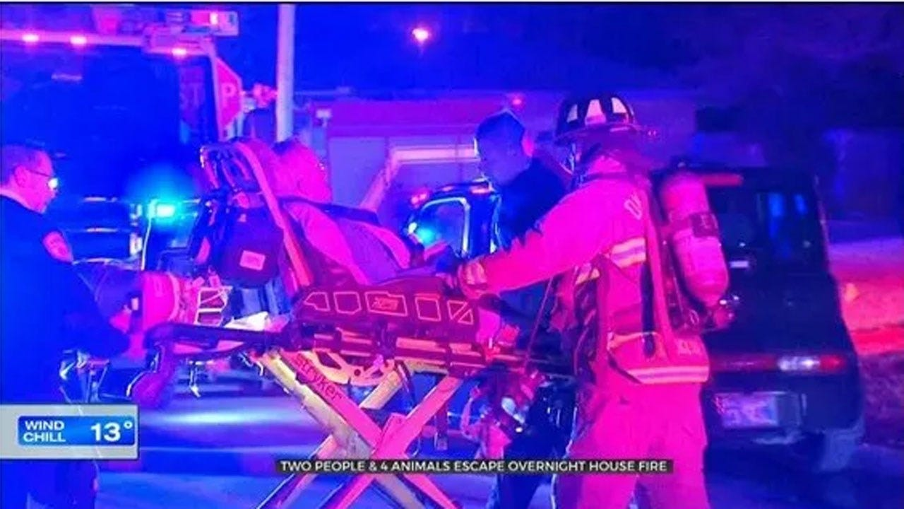 1 Taken To Hospital After Trying To Save Pets In NW OKC House Fire