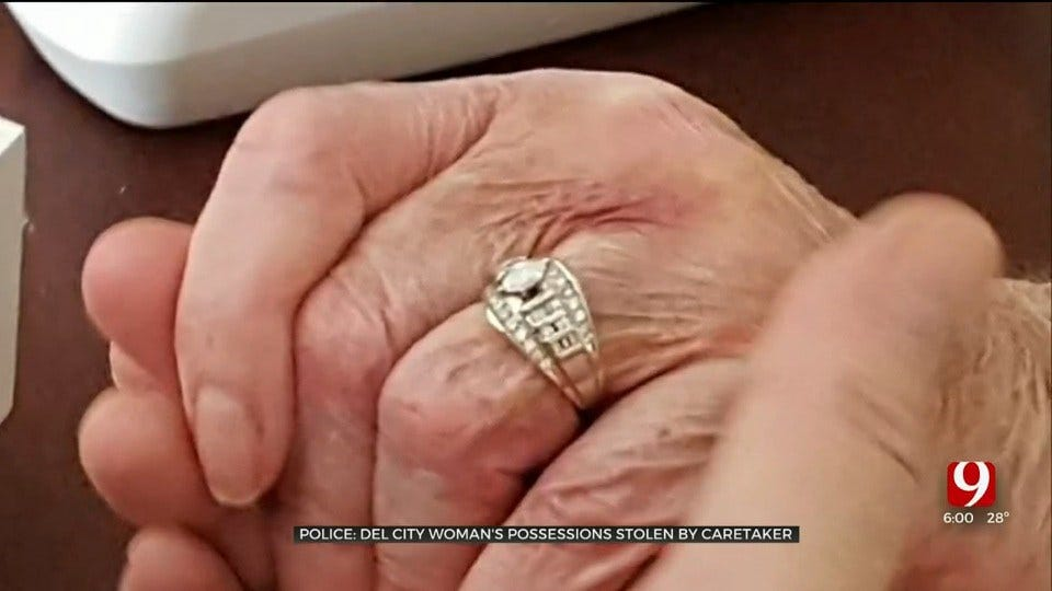 74-Year-Old Del City Woman Desperate To Find Wedding Ring Allegedly Stolen By Caretaker