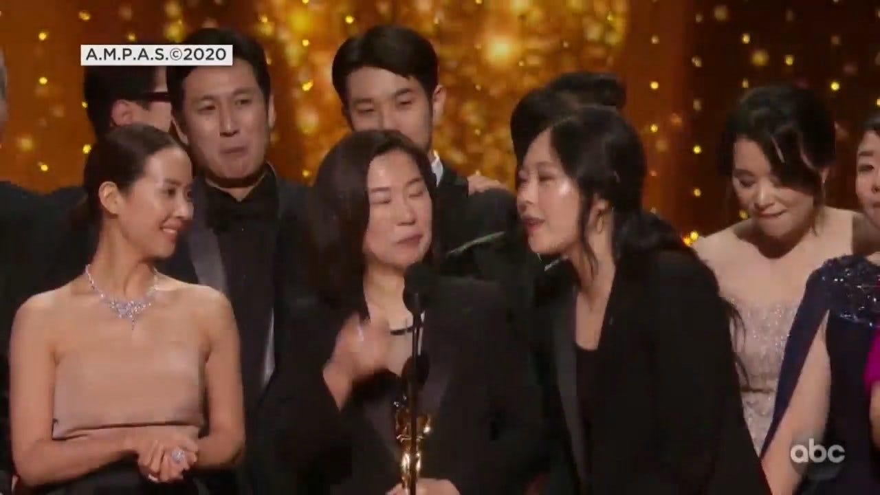 'Parasite' Makes History As First Foreign Language Film To Win Oscar For Best Picture