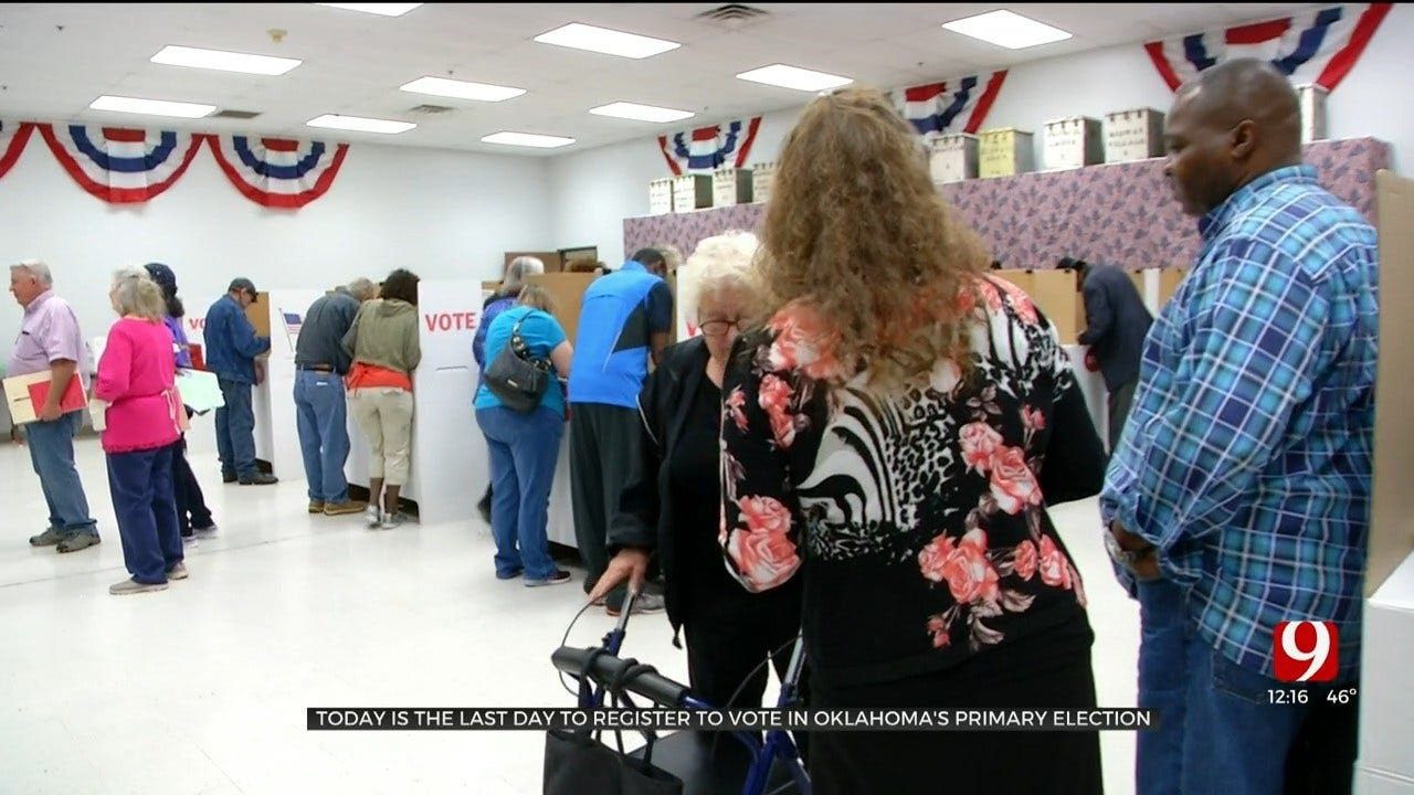 Friday Is Last Day To Register To Vote In Oklahoma's Primary Election