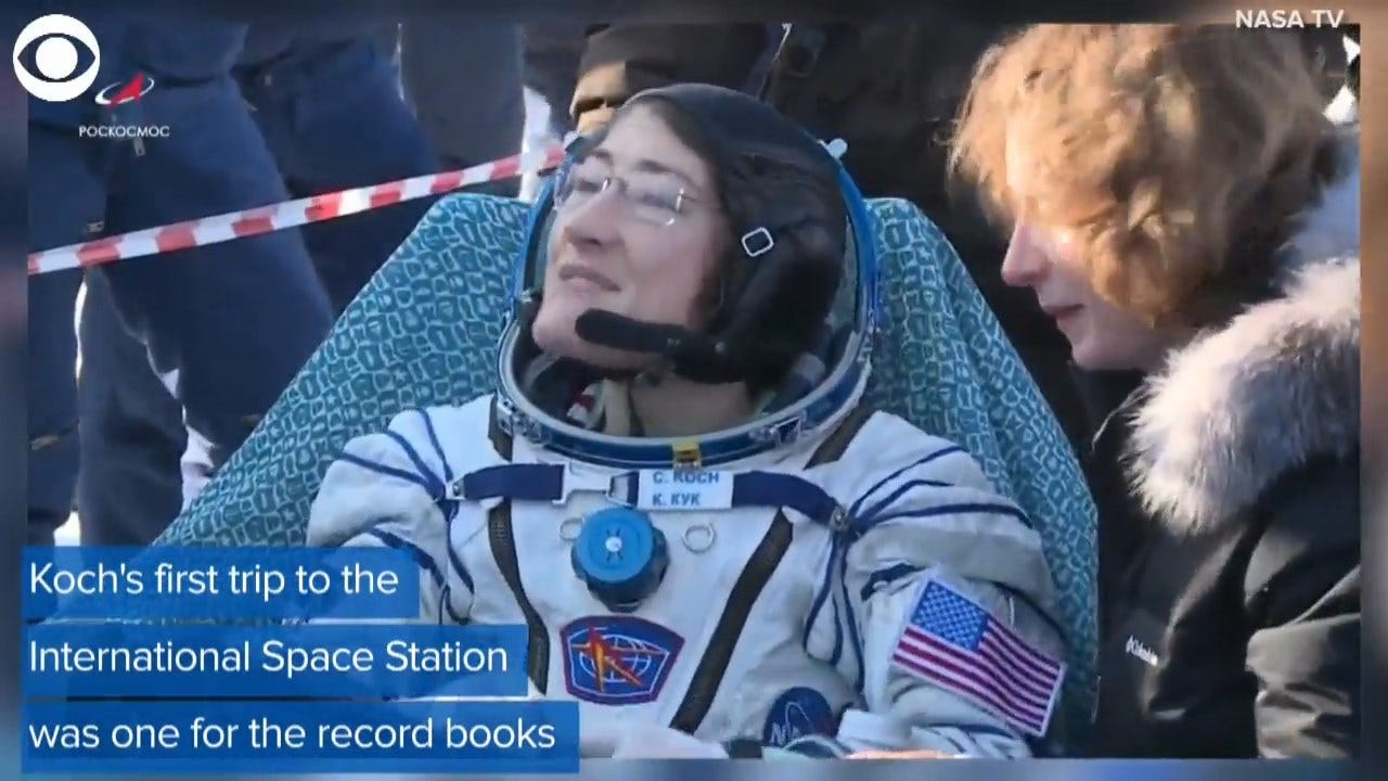 Christina Koch Returns To Earth After Record 11-Month Stay Aboard Space Station