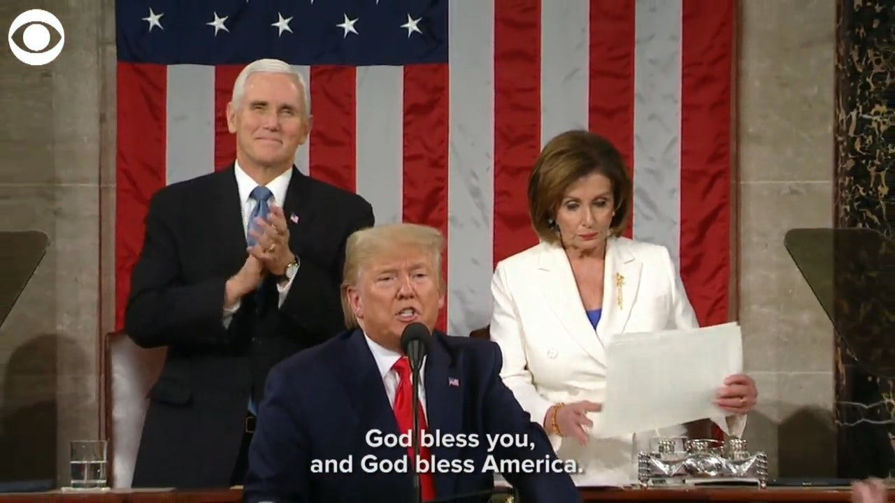 WATCH: Speaker Pelosi Rips Up President Trump's State Of The Union Address
