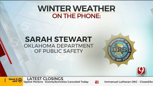 Sarah Stewart On Road Conditions In Central Okla. During Winter Weather