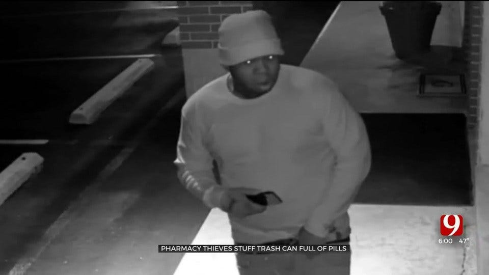 3 Suspects Use Trash Can To Burglarize Pharmacy In Nichols Hills
