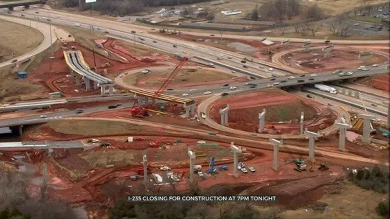 I-235 Closing For Construction Friday Night