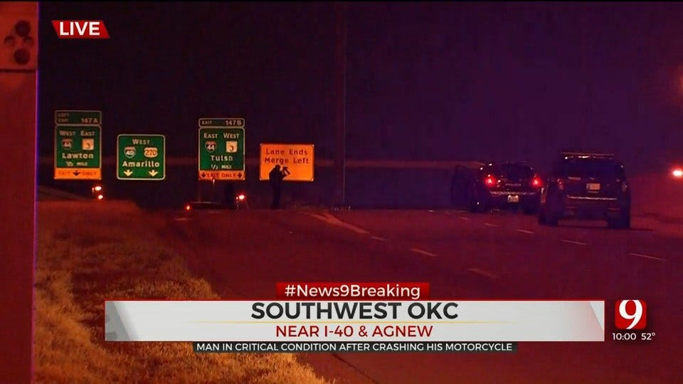 Emergency Crews Respond To Fatal Accident Involving Motorcycle On I-40 On-Ramp