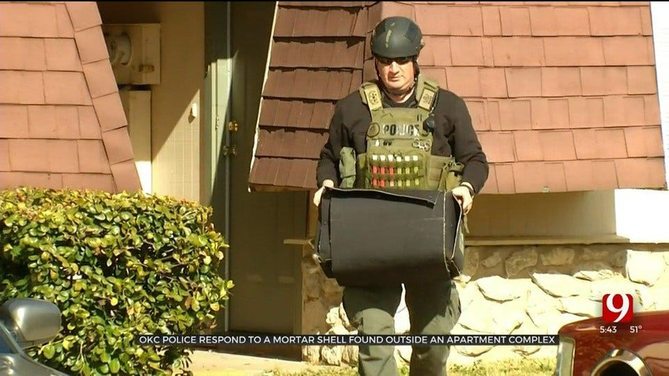 OKC Bomb Squad Responds To Possible Mortar Shell Outside Grove Apartments