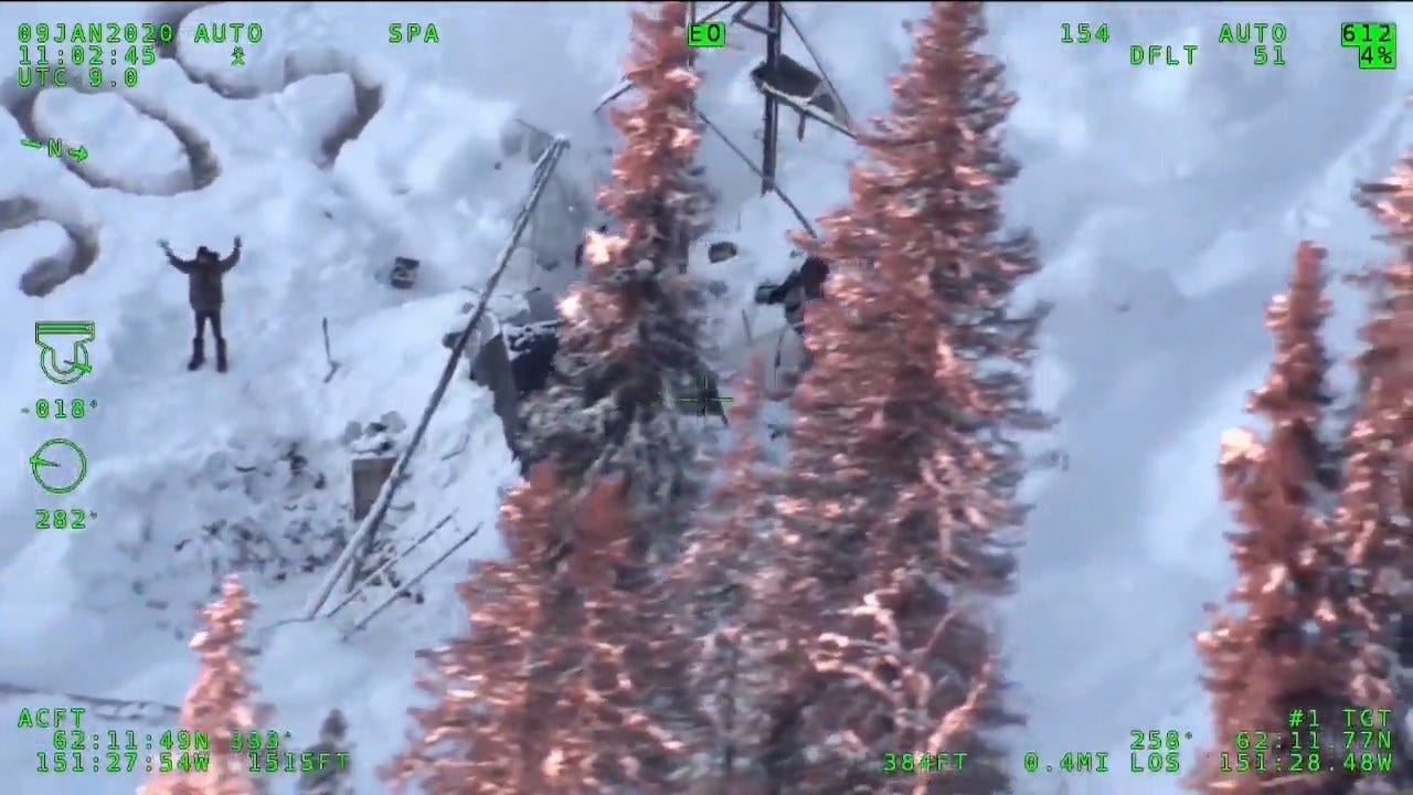 WATCH: 'SOS' Sign Helps Man Get Rescued After Weeks Stranded In Alaska Wilderness