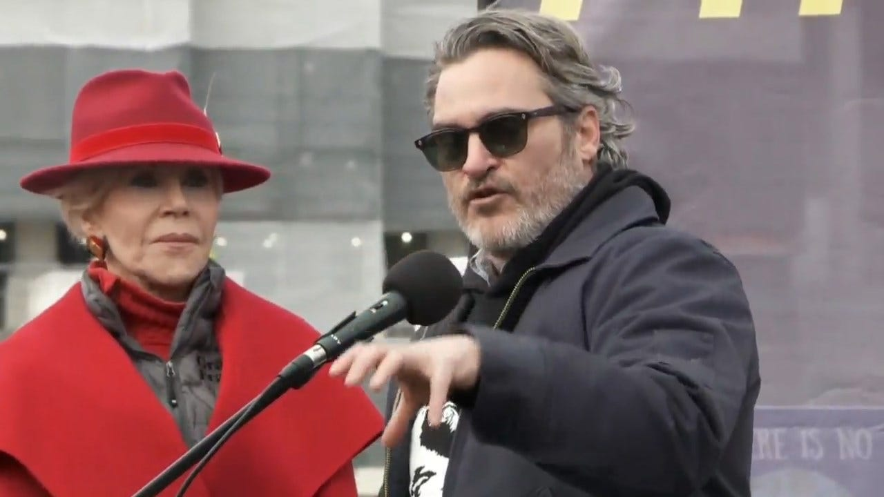 Joaquin Phoenix Arrested At Jane Fonda's Final Climate Change Protest In DC