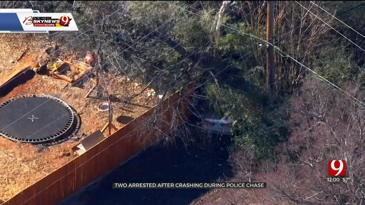 2 Arrested After Police Chase Ends In Crash In NE OKC