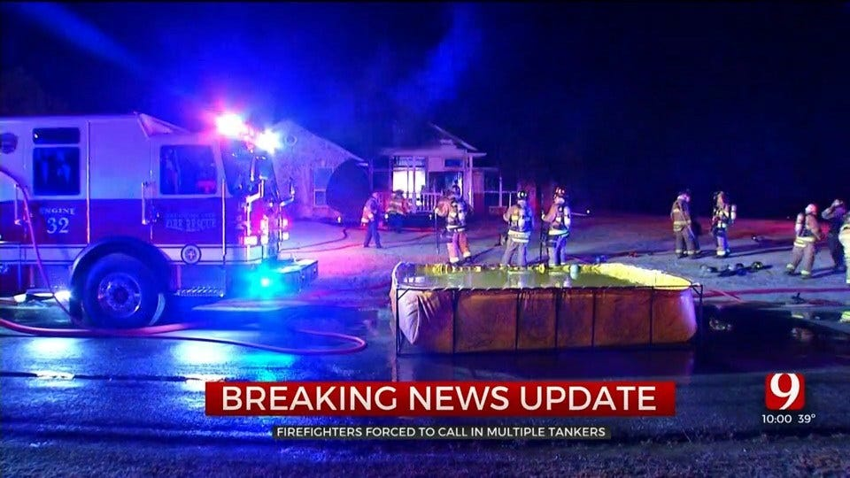 House Fire Reported Near Piedmont
