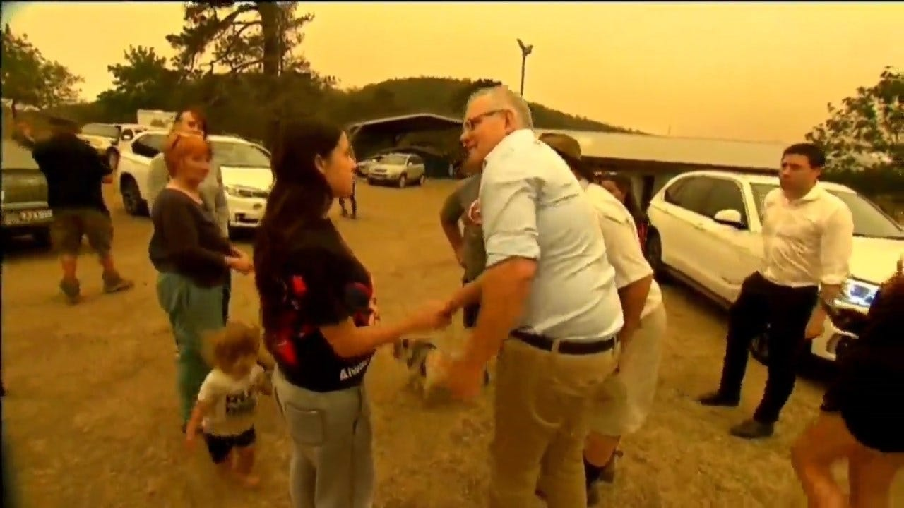 Australian Woman Forced To Shake PM's Hand Upset By Wildfire Response: 'It Broke My Heart'