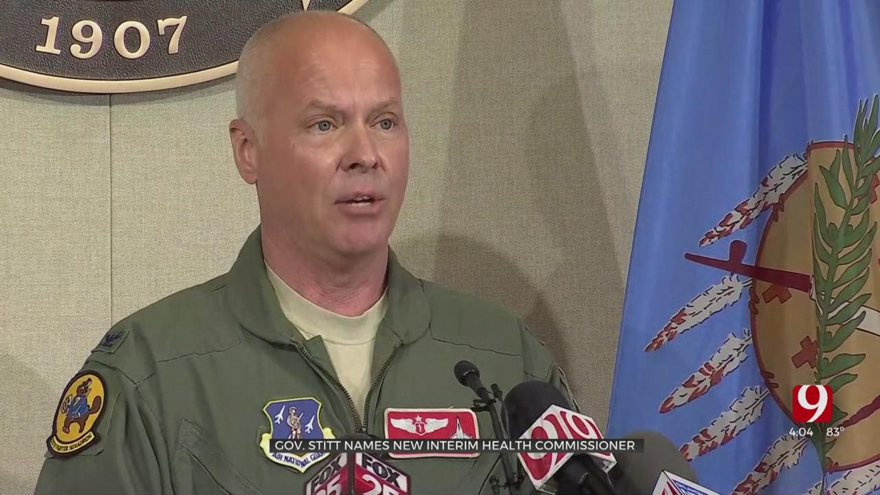 Gov. Stitt Names Oklahoma Air National Guard Colonel As Interim Health Commissioner