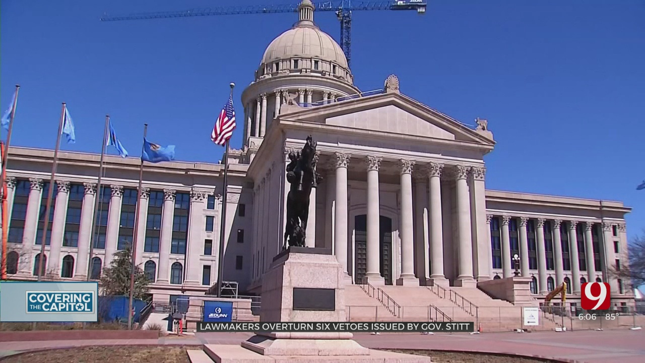 Oklahoma Legislature Wraps Up Strange Session, Overrides Number Of Stitt's Vetoes