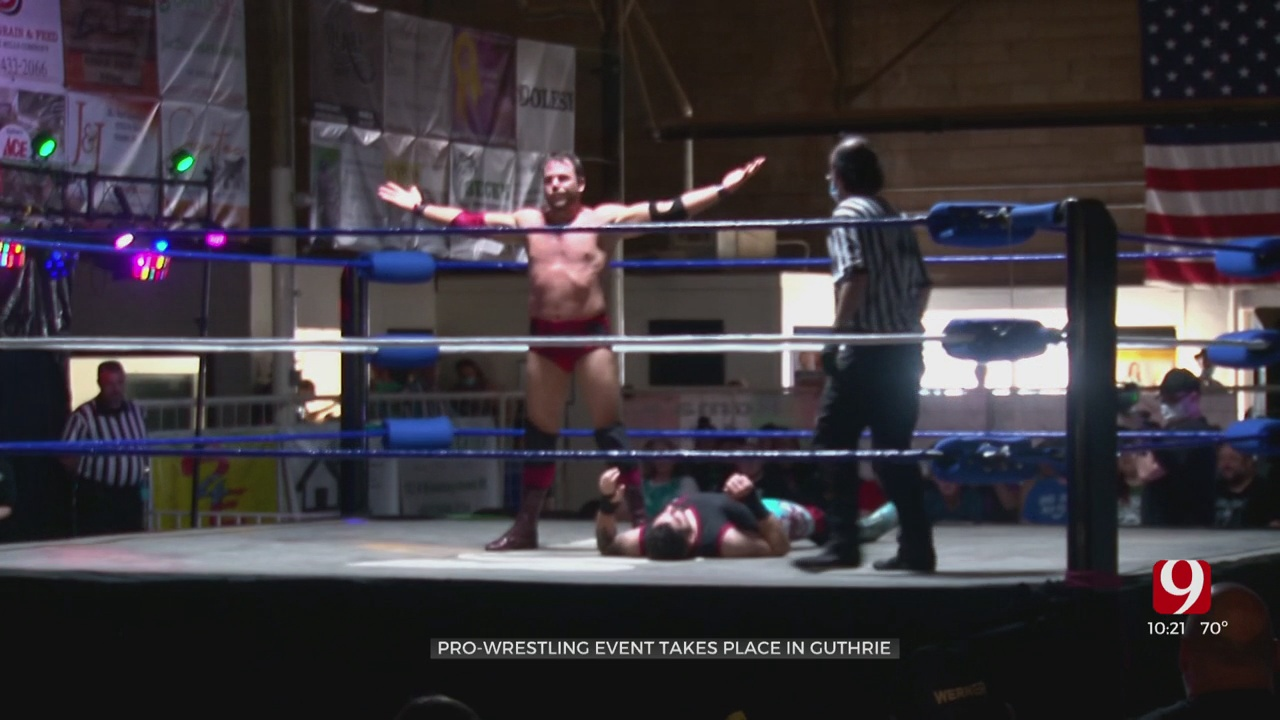 Pro Wrestling Event Takes Place In Front Of Fans In Guthrie