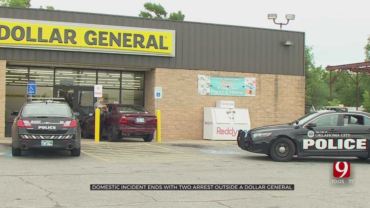 Vehicle Nearly Crashes Into Dollar General In NW OKC, 2 Taken Into Custody