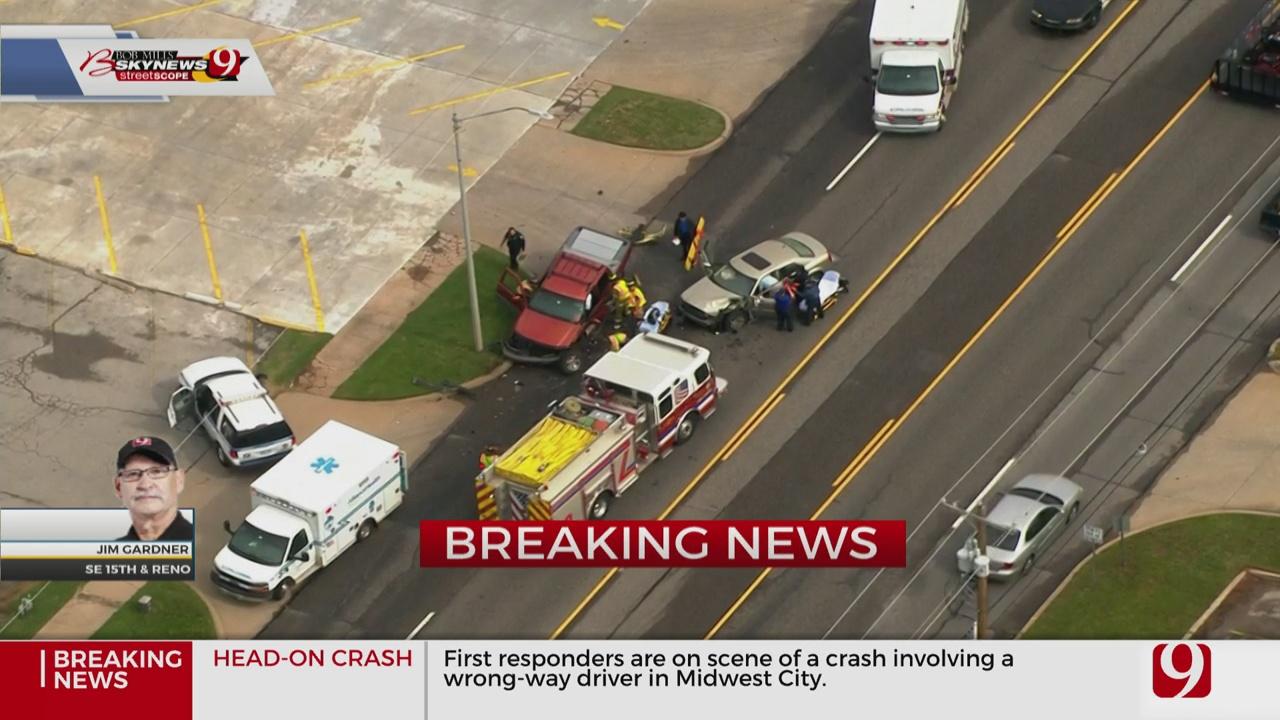Emergency Crews On Scene Of Injury Crash