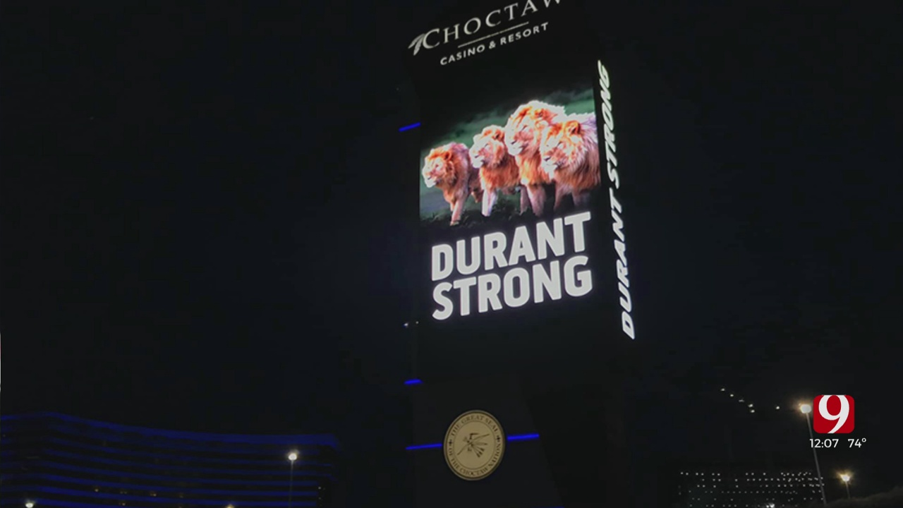 Choctaw Casino Lit Up In Honor Of Durant Teenagers