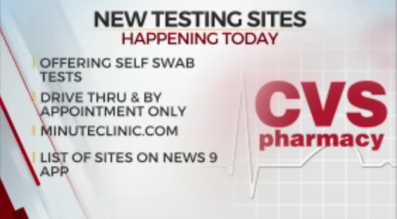 CVS To Open Several Drive-Thru Testing Sites Across State