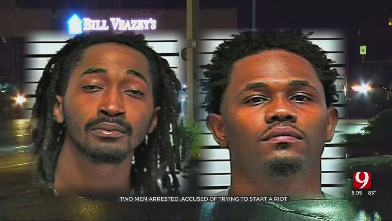 2 Men Arrested, Accused Of Making Riot Threat Against NW OKC Target