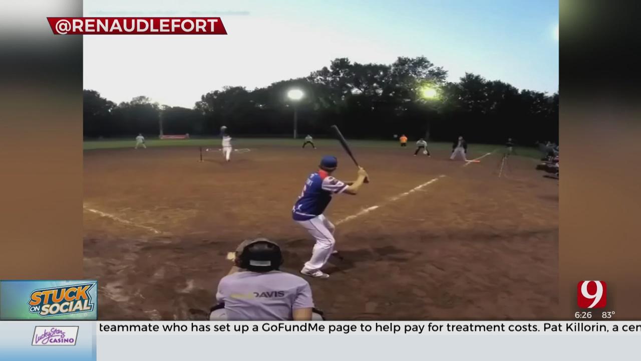 Stuck On Social: Softball Trick Shot Artist Hits Home Runs Backwards
