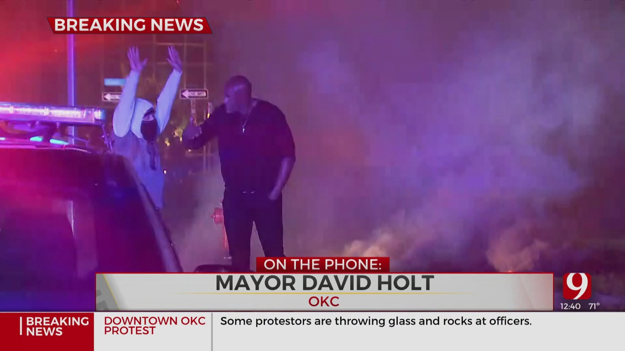 OKC Mayor David Holt Discusses Saturday Night Protest In Downtown OKC