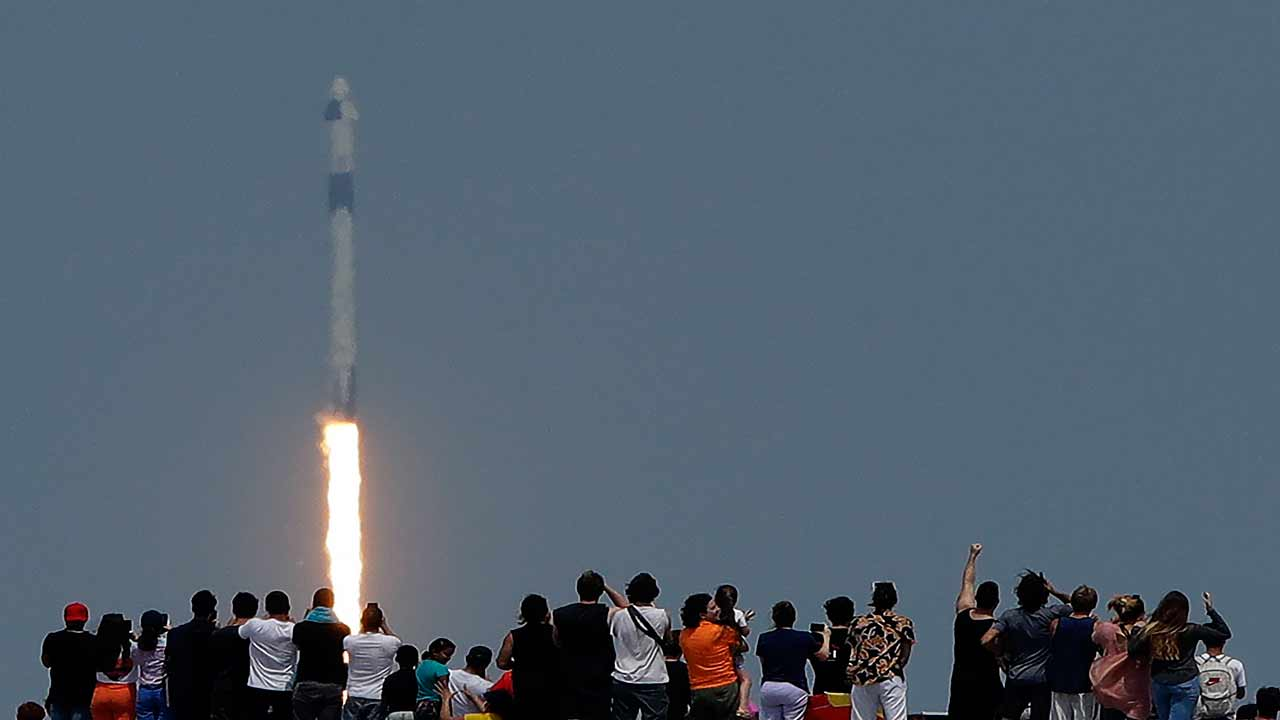 SpaceX Launches Two NASA Astronauts On Historic Mission