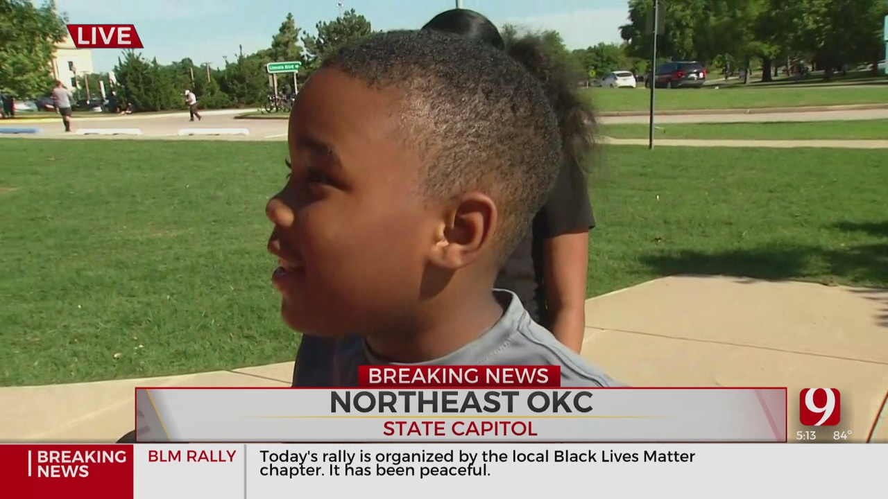 8-Year-Old Boy Talks About Why He's Protesting As A Black Male