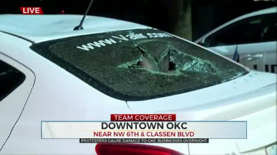 Protesters Cause Damage To OKC Businesses Overnight