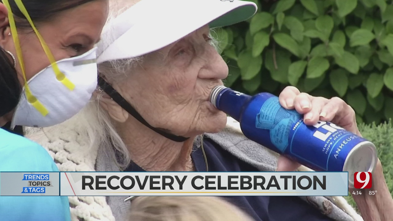 Trends, Topics & Tags: 103-Year-Old Celebrates Beating COVID-19 With Beer